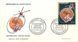 1966  Station Spatiale De Ouagadougou  Poste Aérienne FDC - Obervolta (1958-1984)