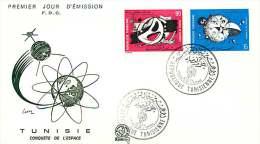 1971  Conquète De L'espace FDC - Tunisie (1956-...)