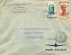 1950  Lettre Avion Pour La France Yv 308, 314 - Madagascar (1889-1960)