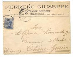 500/126 - REGNO 1912 , Lettera Intestata (Ferrero Giuseppe) Per La Svizzera - 1900-44 Vittorio Emanuele III