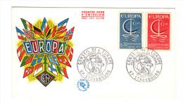 Europa: Premier Jour D´ Emission, FDC, Conseil De L' Europe, Strasbourg 24 Septembre 1966 (13-4012) - 1966