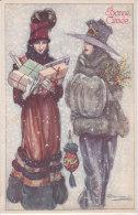 CARD BOMPARD BUON ANNO BELLE  DONNE ELEGANTI  CHARME  REGALI  -FP-N-2-0882-18815 - Bompard, S.
