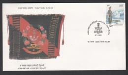 INDIA, 2001, FDC, Bicentenary Of 4th Maratha Light Infantry,  New Delhi Cancellation - FDC