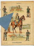 UNIFORMES MILITAIRES L' ALLEMAGNE EMPIRE PRUSSE Couverture Protège Cahier Coll.CH. D. PARIS - Protège-cahiers