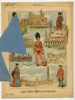 UNIFORMES MILITAIRES Les ILES BRITANNIQUES ROYAUME UNI D' ANGLETERRE ECOSSE IRLANDE Couverture Cahier Coll.CH. D. PARIS - Protège-cahiers