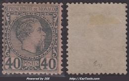 *PROMO* 40c Charles III Neuf * Et TB (Y&T N° 7 , Cote 125€)