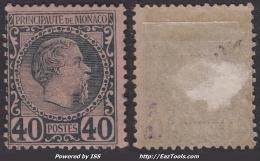 40c Charles III Neuf * Et TB (Y&T N° 7 , Cote 125€)