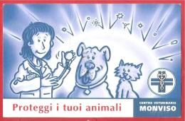 CARTOLINA VG ITALIA - CENTRO VETERINARIO MONVISO - S. Secondo Di Pinerolo (TO) - 9 X 14 - ANNULLO TORINO 2012 - Reclame