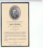 FAIRE PART DE DECES  1933 GABRIEL  BOUNIOL  A L AGE DE 35.. ANS ..... A03 - Todesanzeige