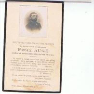 FAIRE PART DE DECES  1919 FELIX  AUGE  A L AGE DE 60 ANS ..... A01 - Obituary Notices