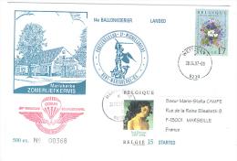 VEND 14e BALLONKOERIER , 1997 , N° 368 / 500 EX + N° 2699 + 2702 ( COB ) - Postmark Collection