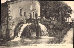 Cp Poissons Haute Marne, Le Moulin, Partie An Der Wassermühle - Autres Communes