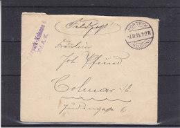 Poste De Campagne - Fuhrpark - Kolonne 6 - Belgique - Lettre De 1915 - Oblitération Kortryk - WW I