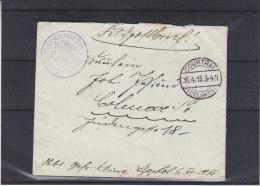 Poste De Campagne - K.PR. Fuhrpark - Kolonne N° 6 - Belgique - Lettre De 1915 - Oblitération Courtrai - Weltkrieg 1914-18