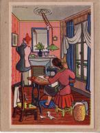 ILLUSTRATEUR R. HETREAU - CPSM - LA COUTURIERE - VENDUE AU PROFIT ENTR´AIDE FRANCAISE - Illustrateurs & Photographes