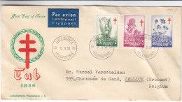 Fleurs  - Finlande - Lettre De 1958 - Finlandia