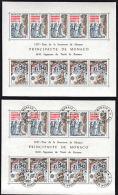 C0140 MONACO 1982, Europa, Fortresses (Forteresse) Mint And Cancelled Block - Monaco
