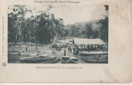 .HAUT OUBANGUI ( Embarcadere De La  N T C O  A Bangui En 1903 ) - Congo Français - Autres