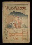 BOURGOGNE ( Yonne) VILLE D´ AUXERRE ALBUM DE LA RETRAITE ILLUMINEE 2 AOUT 1908 Max BIGERELLE - Bourgogne