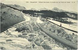 38/CPA  - Villard De Lans - La Route Du Col Vert En Hiver - Villard-de-Lans