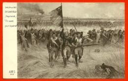 """CPA Patriotique """"EN AVANT POUR LA PATRIE"""" Par Raymond DESVARREUX (Drapeau - Fusils à Baïonnette...) Militaria Tableau - Patriotiques"""