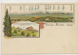 Litho Gruss Grosser Belchen Gasthaus Belchenkopf  Cachet Hotel - Sonstige Gemeinden