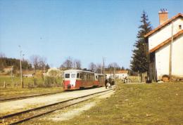 CPM TRAIN GARE RAUCOULES BROSSETTE 1966 REMORQUE BILLARD R 210 RENFORCE LE 217 PAR A 150 D1 AMIS DU RAIL FOREZ 1990 2000 - Trains