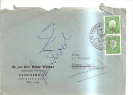 69389) Lettera Con 2 Francobolli Da 10 P. Viaggiata Nel 1960 - BRD