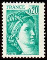 France Sabine De Gandon N° 1967 ** Le 0.20 Fr. émeraude - 1977-81 Sabine Of Gandon