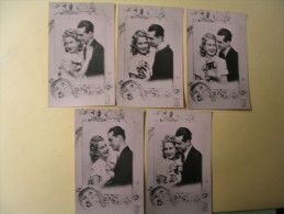 Lot DE 5 CARTES JEUNE COUPLE...N°206-1 A 206-5 - 5 - 99 Postcards