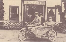 MOTOR CYCLE AND SIDECAR. REPRINT - Motorbikes