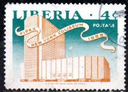 LIBERIA 1956 5th Int Philatelic Exhibition, New York - 4c Coliseum, New York  FU - Liberia
