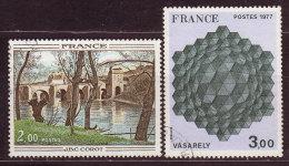 FRANCE - 1977 - YT N° 1923 / 1924  -oblitérés - - France