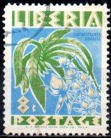 LIBERIA 1955 Flowers - 8c Listostachys Chudata FU - Liberia