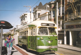 CPM TRAMWAY DE SAN FRANCISCO TRAM N° 1058 EX TRAM DE CHICAGO TRANSIT AUTHORITY BANLIEUE LIGNE F JUIN 1996 - Tramways