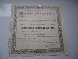 THEATRE DE LA PORTE SAINT MARTIN (1940) - Shareholdings