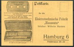Germany Elektrotechnische Fabrik Hanseata, Hamburg Postkarte - Advertising