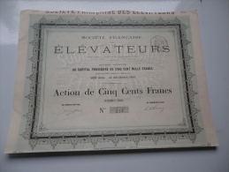 FRANCAISE DES ELEVATEURS - Shareholdings