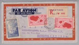 Afrika Madagaskar 1940-06-22 Tamatave R-Luftpostbrief Nach Neuchatel CH - Madagascar (1960-...)