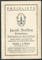 1934-5 Jacob Steffen Weinhofbauer Preisliste Moselweinlied - Germany