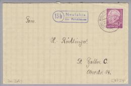 Heimat DE Bay Neufahrn über Wolfratshausen 1955-10-21 Nach St.Gallen CH - [7] République Fédérale