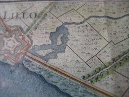 Grote Handgekleurde Gravure RARE Hydrografische Kaart ANTWERPEN 1747 Niet Gekend In FELIX Museum  - JAILLOT 60cm X 80 Cm - Mapas Topográficas