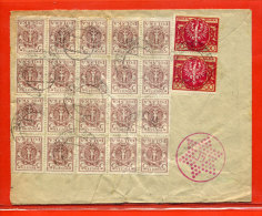 POLOGNE LETTRE DE 1923 DE DOMBROWA POUR PARIS FRANCE - 1919-1939 République