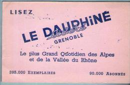 Buvard Lisez Le Dauphiné Libéré Grenoble - Journal Presse Quotidien ...... - D