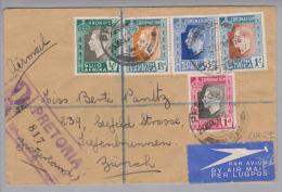 Südafrika 1937-05-25 Pretoria R-Luftpostbrief Nach Zürich 5-Farben-Frankatur! - Afrique Du Sud (1961-...)