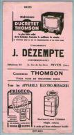 Buvard Dézempte Rives Isère Télévision Radio Ducretet Thomson Electro-Ménager Frigéco Cachet Seigle La Ratz Voiron - Blotters
