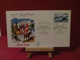 FDC, Région, Rhone Alpes - 69 Lyon - 22.1.1977 - 1er Jour - - FDC