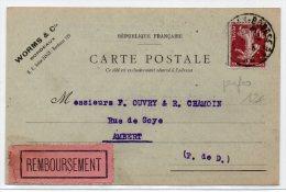 1925 - CP COMMERCIALE (WORMS & Cie) De BORDEAUX (GIRONDE) Avec PERFORE - SEMEUSE - France