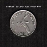 BERMUDA    25  CENTS  1985  (KM # 18) - Bermuda