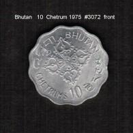 BHUTAN    10  CHETRUMS  1975  (KM # 43) - Bhutan